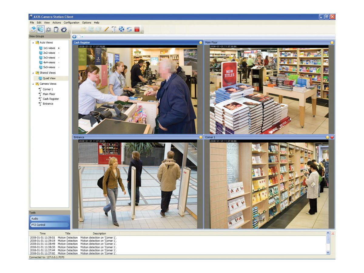 AXIS Camera Station Base Pack - license + 1 Year Software Updates - 10 network video channels