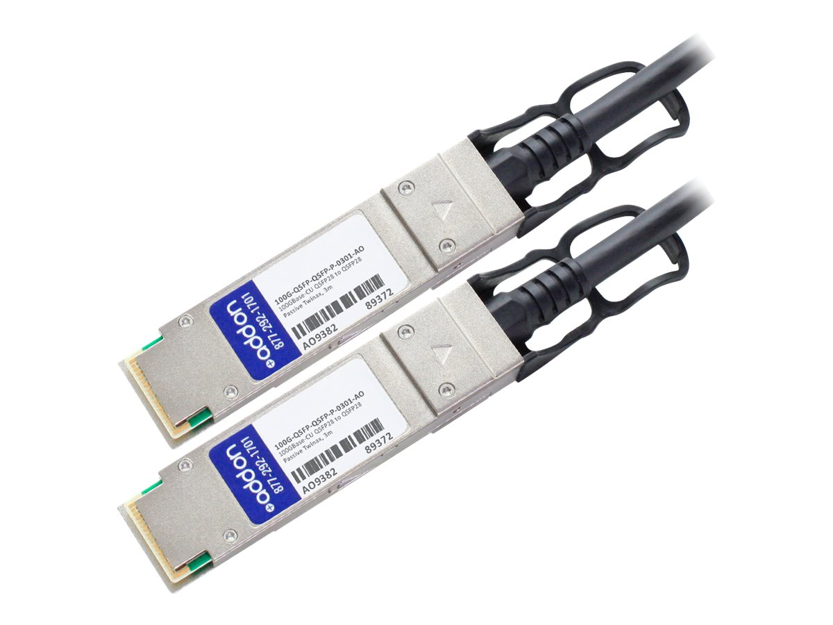 AddOn 100GBase-CU direct attach cable - TAA Compliant - 3 m