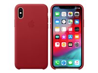 Apple (PRODUCT) RED - Back cover for mobile phone - leather - red - for iPhone Xs
