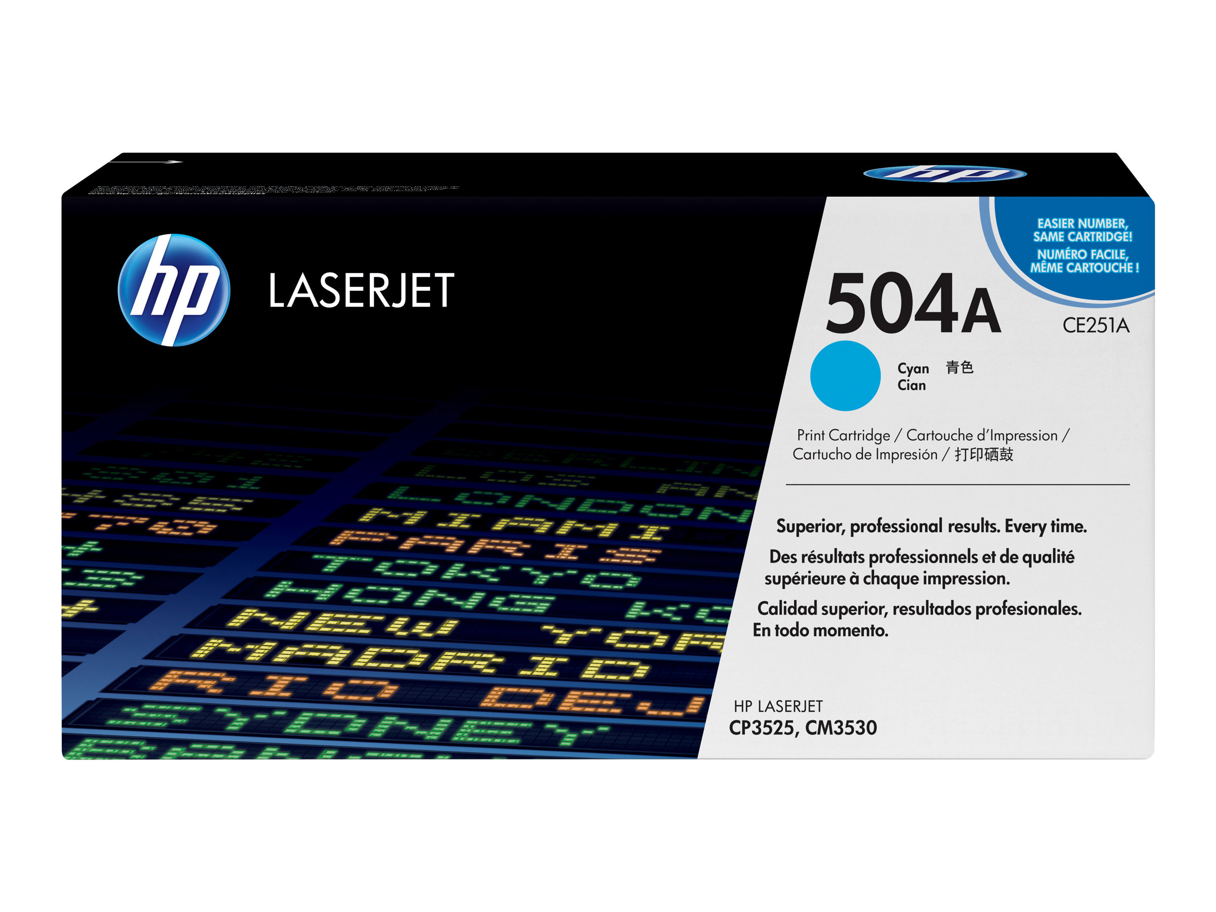 HP 504A - cyan - original - LaserJet - toner cartridge (CE251A)