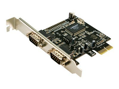 LogiLink PCI Express Interface Card Serial 2x - Serieller Adapter - PCIe - RS-232 x 2 - grün