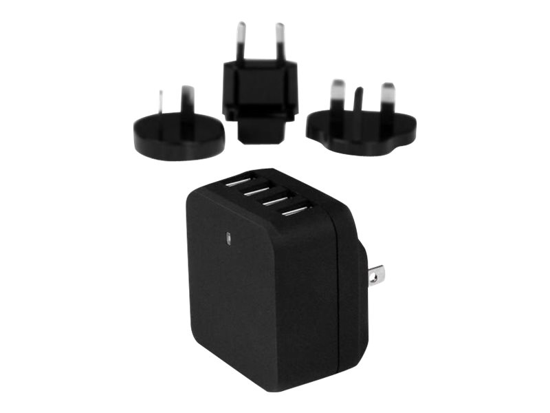 StarTech.com 4-Port Travel USB Wall Charger - 34W/6.8A International Travel Adapter - Portable USB Charging Station (US…