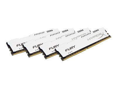 HyperX FURY - DDR4 - 32 GB: 4 x 8 GB - DIMM 288-PIN - senza buffer