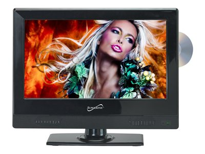 Supersonic SC-1312 13.3INCH Class LED TV with built-in DVD player 720p 1366 x 76