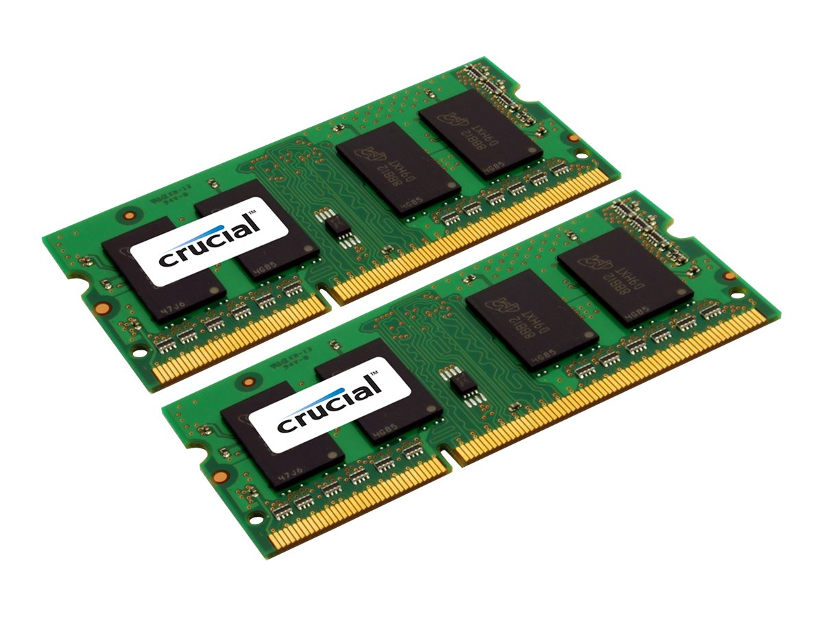 Crucial - DDR3L - 16 GB : 2 x 8 GB - SO DIMM 204-PIN - 1600 MHz / PC3-12800 - CL11