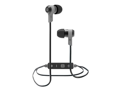 iHome iB39 Earphones with mic in-ear Bluetooth wireless noise isolating gunmet