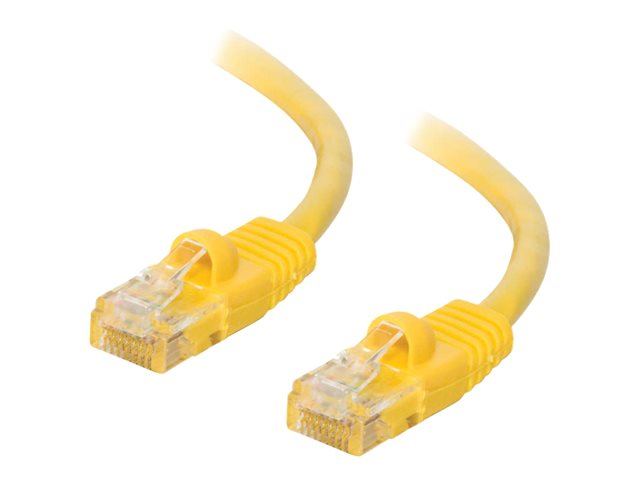 Image of C2G Cat5e Booted Unshielded (UTP) Network Patch Cable - patch cable - 1.5 m - yellow