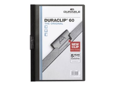 Chemises clip DURABLE DURACLIP ORIGINAL 60 - 5 Chemises à clip - A4 - différents coloris disponibles