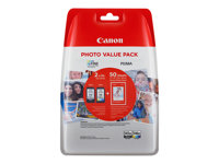 Canon PG 545 XL/CL-546XL Photo Value Pack Sort Farve (cyan, magenta, gul) 100 x 150 mm 50ark