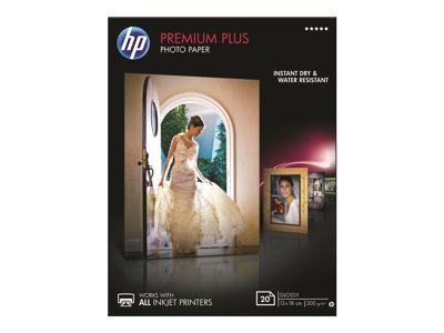 HP Premium Plus Photo Paper Fotopapir 130 x 180 mm 20ark