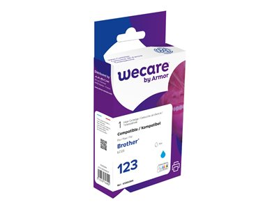 compatibles Brother  Wecare - cyan - cartouche d'encre (alternative pour: Brother LC123C)