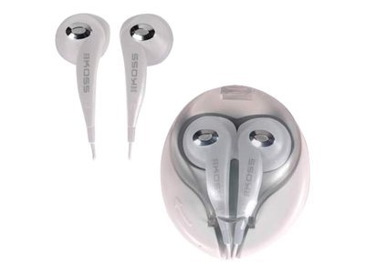 Koss KEB7W Headphones ear-bud wired 3.5 mm jack white
