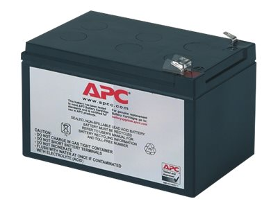 APC Replacement Battery Cartridge #4 - Batterie d'onduleur Acide de plomb - noir - pour Back-UPS 650VA; Back-UPS Pro 650, 650VA; Smart-UPS 620, 620VA; Smart-UPS v/s 650VA