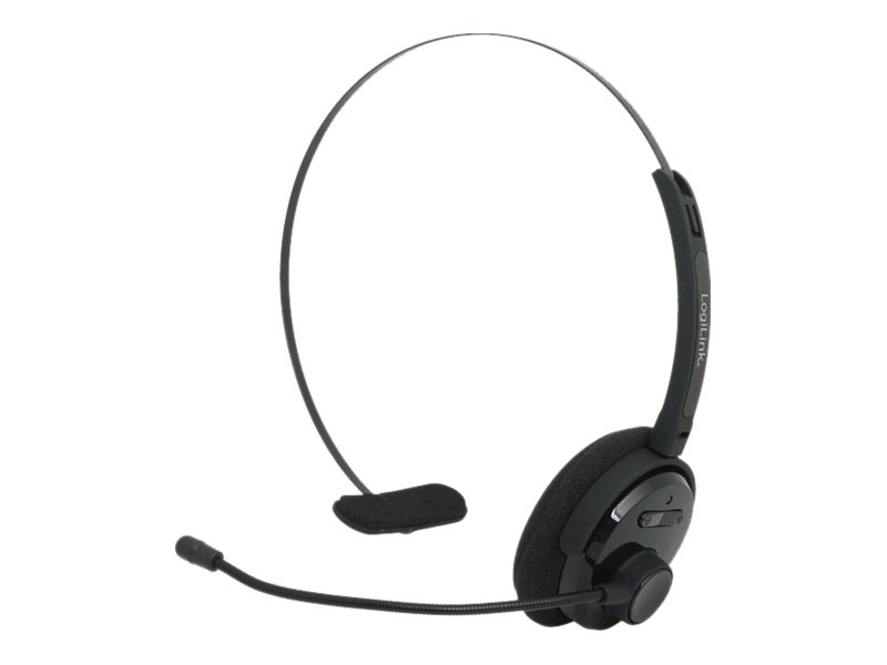 LogiLink Bluetooth Mono Headset - Headset - On-Ear - drahtlos - Bluetooth - Schwarz