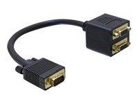 Delock Adapter VGA male to 2x VGA female, Delock Adapter VGA mal
