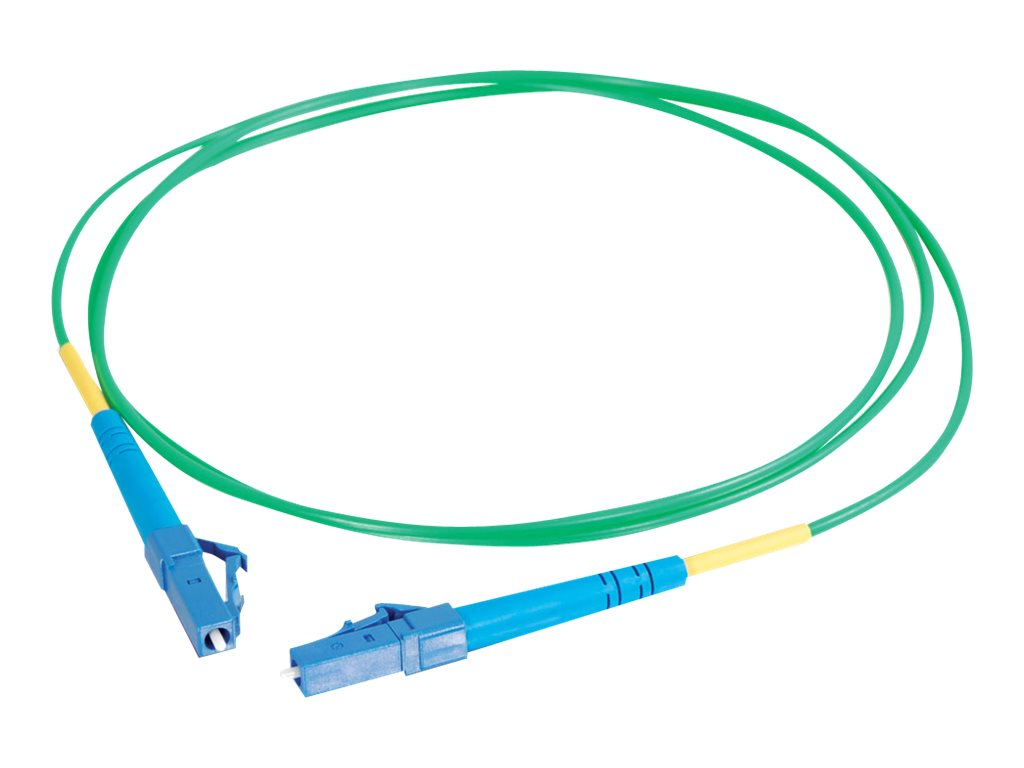 C2G 10m LC-LC 9/125 Simplex Single Mode OS2 Fiber Cable - Green - 33ft - patch cable - 10 m - green