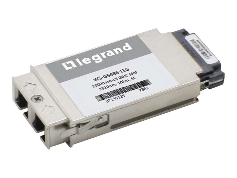 Legrand Cisco WS-G5486 1000Base-LX SMF GBIC Transceiver (TAA) - GBIC transceiver module - GigE - TAA Compliant
