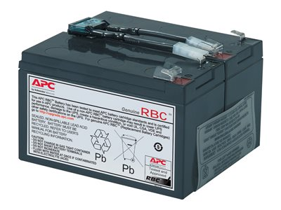 APC Replacement Battery Cartridge #9 UPS battery lead acid black -