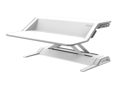 Fellowes Lotus Sit-Stand Workstation - Stand for LCD display / keyboard / mouse (Waterfall) - steel - white