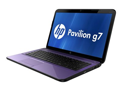 "HP Pavilion g7-2318nr - A6 4400M / 2.7 GHz - Win 8 64-bit - 6 GB RAM - 1 TB HDD HP ProtectSmart Hard Drive Protection - DVD SuperMulti - 17.3"" 1600 x 900 (HD+) - Radeon HD 7520G - HP Imprint finish with the modern mesh design in bright purple - kbd: US"