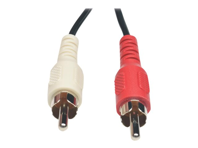 Tripp Lite 6in Mini Stereo to 2 RCA Audio Y Splitter Cable 3.5mm 2xM/F 6