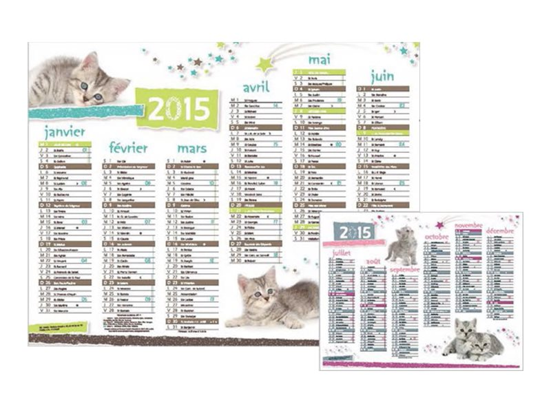 Oberthur chatons stars calendrier planning mural for Planning mural 2017