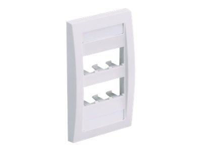 Panduit MINI-COM Classic Series Faceplates with Label and Label Cover - faceplate