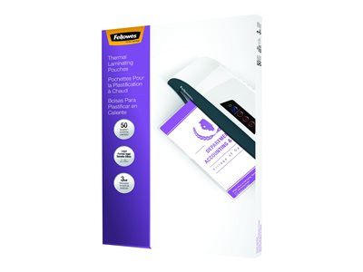 Fellowes 50-pack clear 9 in x 14.5 in lamination pouches