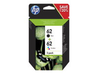 HP 62 Twin Pack - 2er-Pack