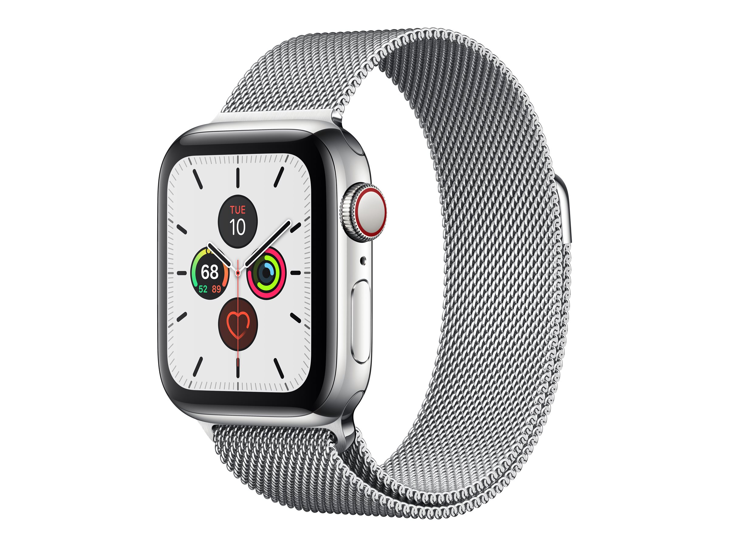 Apple Watch Series 5 (GPS + Cellular) - stainless steel - smart watch with milanese loop - silver - 32 GB - not specifi…