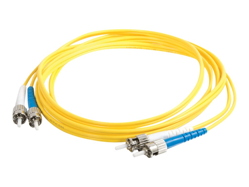C2G 5m ST-ST 9/125 Duplex Single Mode OS2 Fiber Cable TAA - Yellow - 16ft - patch cable - TAA Compliant - 5 m - yellow