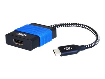SIIG USB Type-C to HDMI Cable Adapter External video adapter USB-C HDMI black