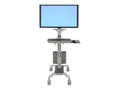 Ergotron Neo-Flex WideView WorkSpace Cart for flat panel / keyboard / mouse / CPU