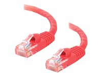C2G Cat5e Booted Unshielded (UTP) Network Patch Cable - Cordon de raccordement - RJ-45 (M) pour RJ-45 (M) - 10 m - UTP - CAT 5e - moulé, sans crochet, bloqué - rouge