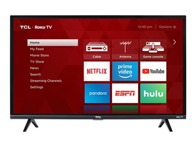 TCL 32S327 32INCH Class (31.5INCH viewable) 3-Series LED TV Smart TV Roku TV