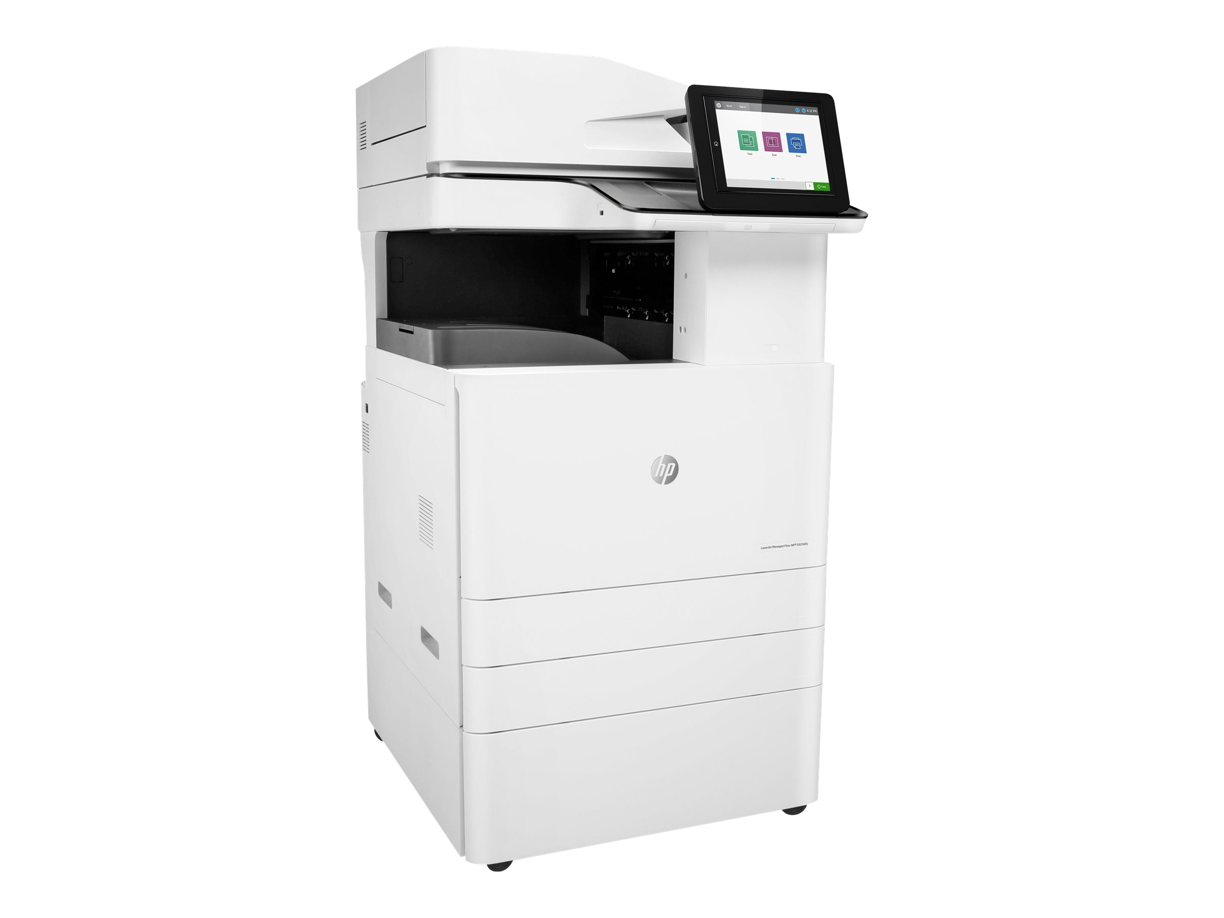 Copieur LaserJet Managed Flow MFP HP E82560z - vitesse 60ppm vue 3/4 gauche