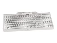 CHERRY KC 1000 SC - Keyboard - USB - UK layout - pale grey