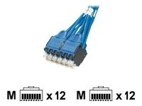 Panduit QuickNet Plug Pack Cable Assembly - network cable - 1.5 m - blue