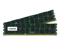 Crucial - DDR3 - 16 GB: 2 x 8 GB - DIMM 240-pin - 1600 MHz / PC3-12800 - registered - ECC