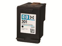 HP 301 - Black - original - ink cartridge - for Deskjet 1000, 1010, 1050 J410, 1050A J410, 1051A J410, 1055 J410, 1056 J410, (1510), 1512