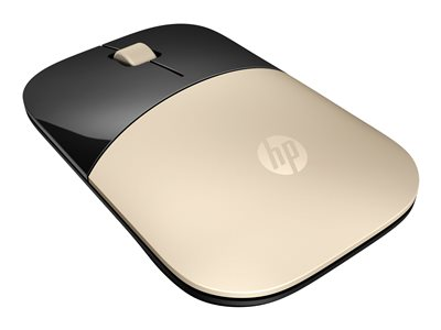 HP Z3700 Mouse blue LED wireless 2.4 GHz USB wireless receiver gold