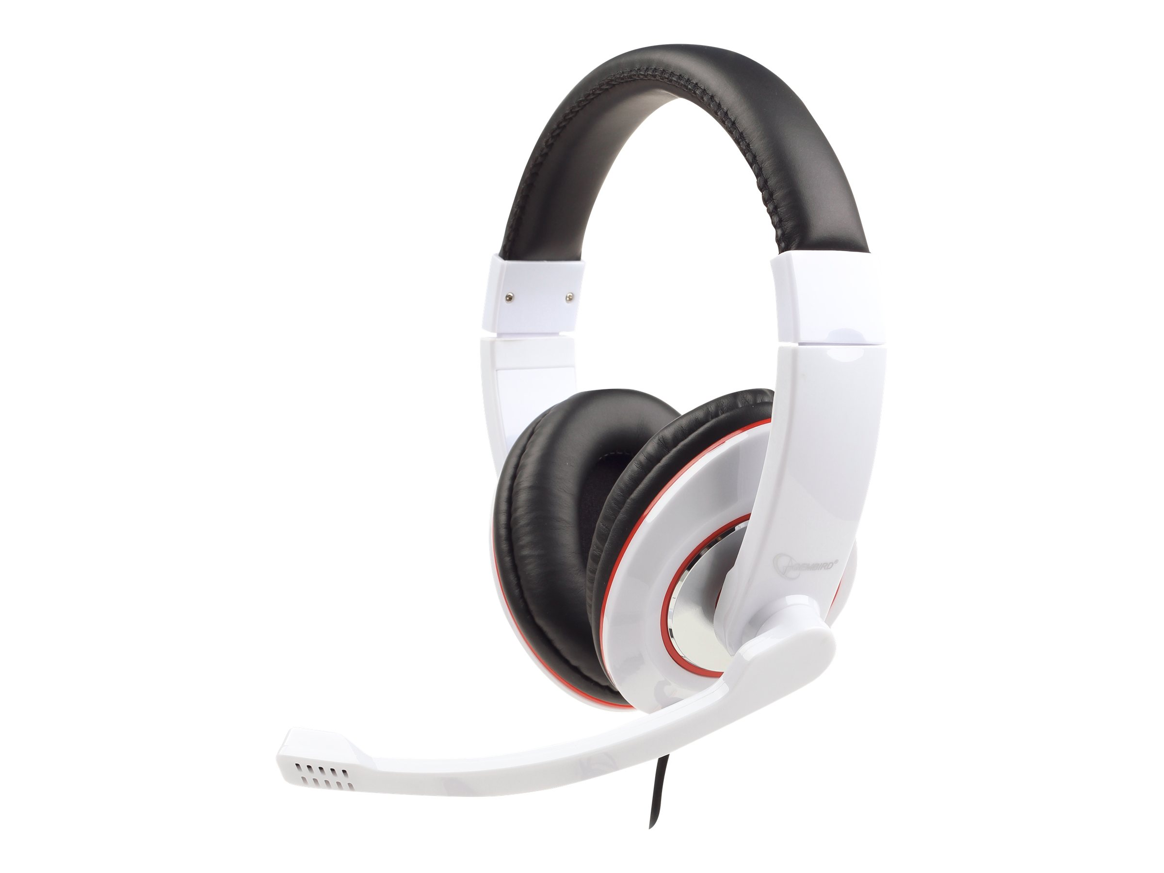 Gembird MHS-001-GW - Headset - Full-Size - Glossy White