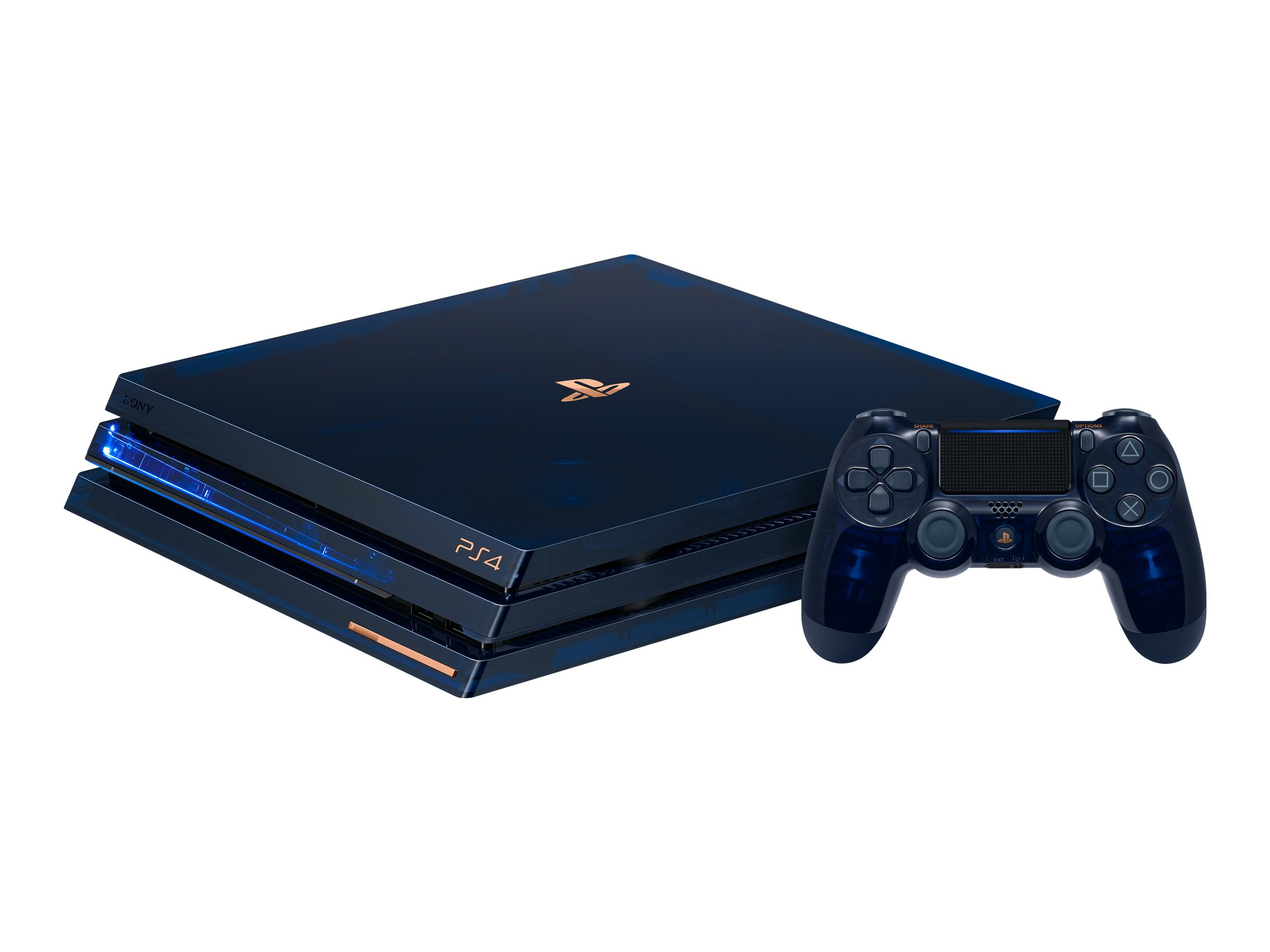 Sony PlayStation 4 Pro - 500 Million Limited Edition - game console - 2 TB HDD - translucent blue - with PlayStation Ca…