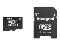 Integral Smartphone and Tablet - Carte mémoire flash (adaptateur microSDHC - SD inclus(e)) - 16 Go - Class 10 - microSDHC UHS-I