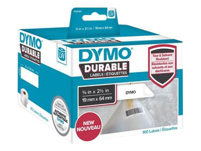 DYMO LabelWriter DURABLE - barcode labels - 900 label(s) - 64 x 19 mm
