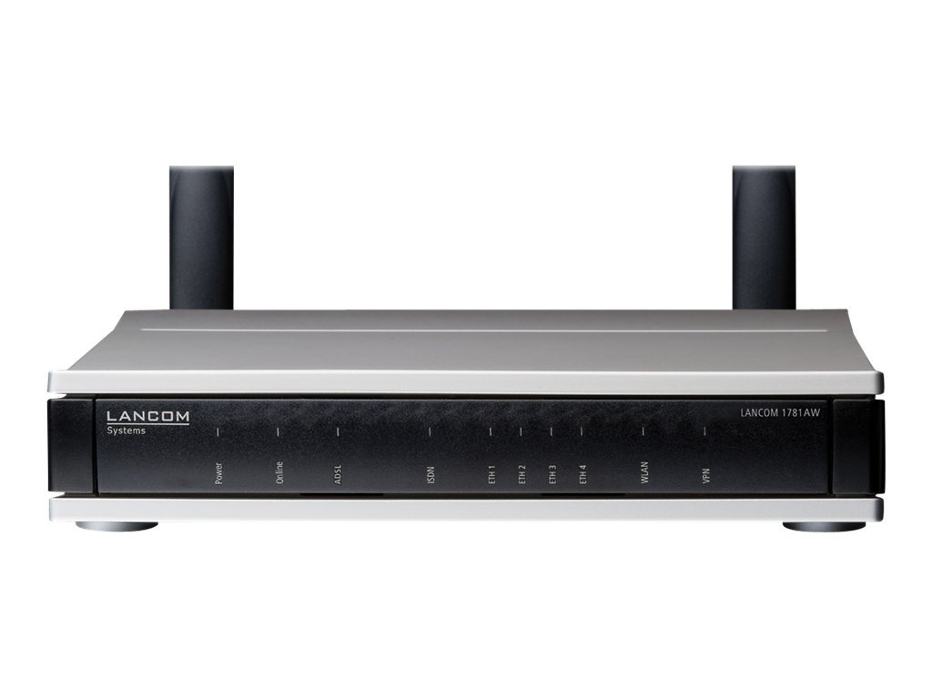 LANCOM 1781AW - Wireless Router - ISDN/DSL - 4-Port-Switch - GigE, PPP - WAN-Ports: 2