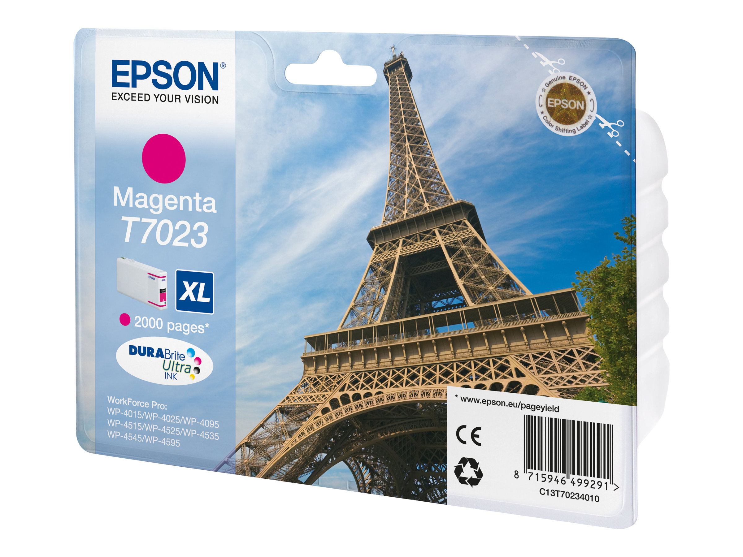 epson t7023 tour eiffel taille xl magenta originale cartouche d 39 encre epson. Black Bedroom Furniture Sets. Home Design Ideas