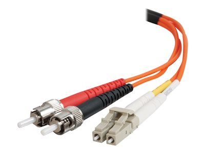 C2G 3m LC-ST 50/125 OM2 Duplex Multimode Fiber Optic Cable (TAA Compliant) Orange Patch cable