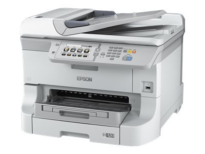 Epson WorkForce Pro WF-8590DWF - Multifunction printer - colour - ink-jet - A3 (297 x 420 mm) (original) - A3 (media) - up to 22 ppm (copying) - up to 34 ppm (printing) - 330 sheets - 33.6 Kbps - USB 2.0, Gigabit LAN, Wi-Fi(n), USB host