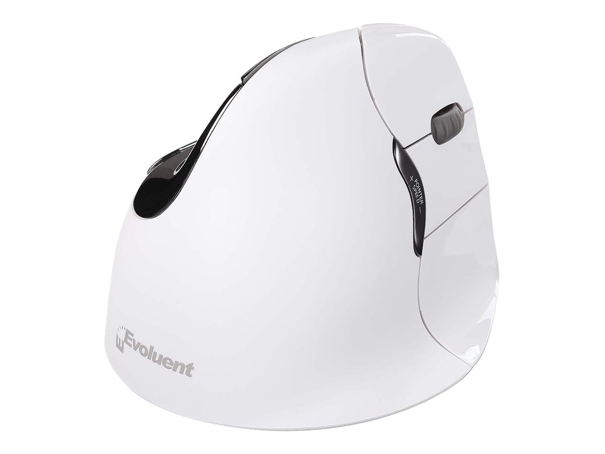 Evoluent VerticalMouse 4 Right Mac - vertical mouse - Bluetooth - white
